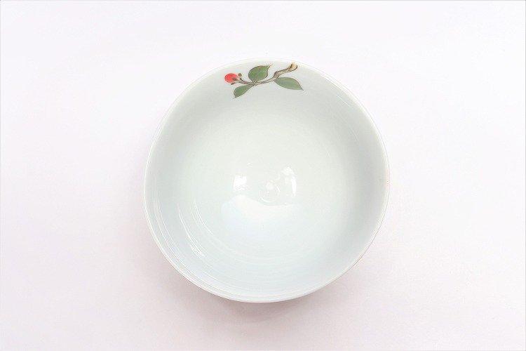誕生花シリーズ 赤椿 茶碗 (1月誕生花) 画像サブ3