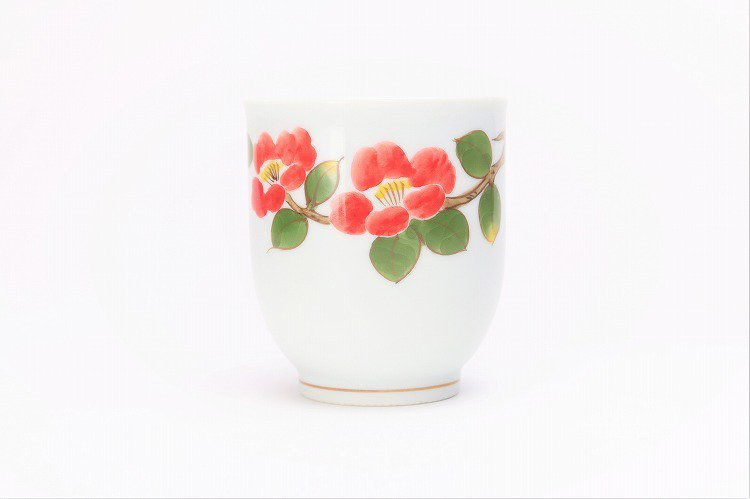 誕生花シリーズ 赤椿 湯呑 (1月誕生花) 画像サブ1
