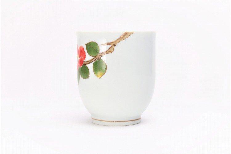 誕生花シリーズ 赤椿 湯呑 (1月誕生花) 画像サブ2