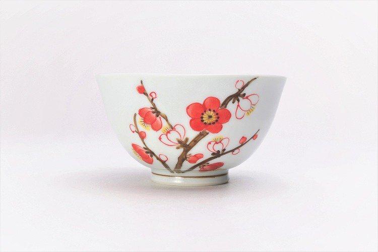 誕生花シリーズ 紅白梅 茶碗 (2月誕生花) 画像サブ1