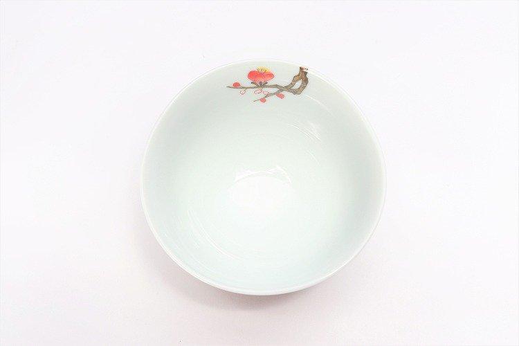 誕生花シリーズ 紅白梅 茶碗 (2月誕生花) 画像サブ3