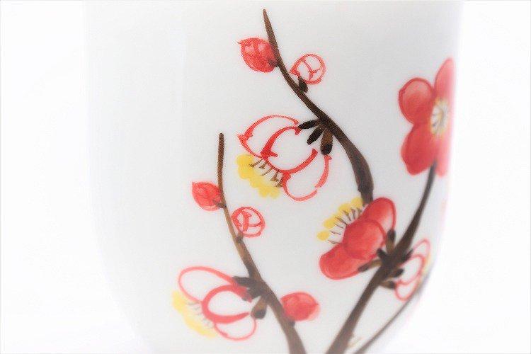 誕生花シリーズ 紅白梅 湯呑 (2月誕生花) 画像サブ3