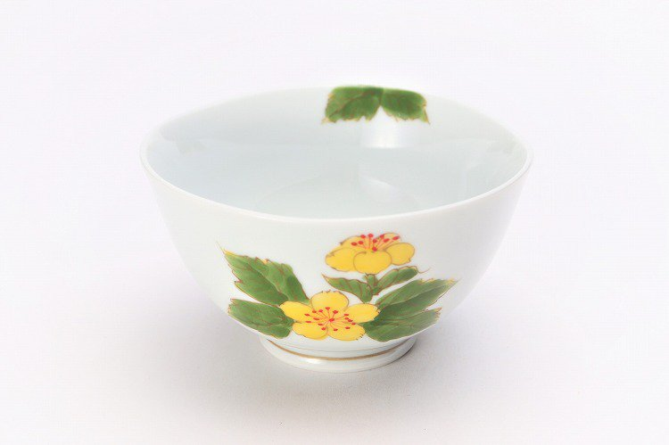 誕生花シリーズ 山吹 茶碗 (3月誕生花) 画像メイン