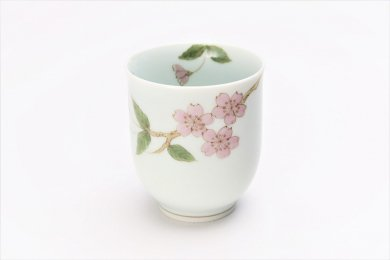 誕生花シリーズ 桜 湯呑 (4月誕生花)