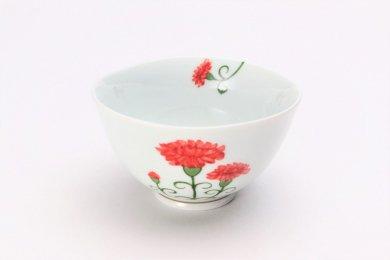 誕生花シリーズ カーネーション 茶碗 (5月誕生花)