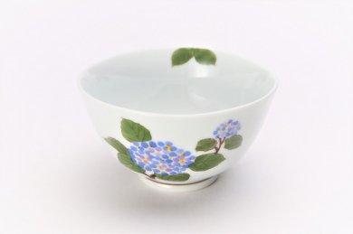 誕生花シリーズ アジサイ 茶碗 (6月誕生花)