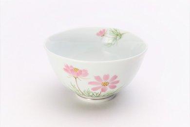 誕生花シリーズ コスモス 茶碗 (9月誕生花)