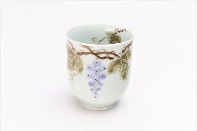 誕生花シリーズ 山ぶどう 湯呑 (10月誕生花)