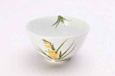誕生花シリーズ グラジオラス 茶碗 (11月誕生花)