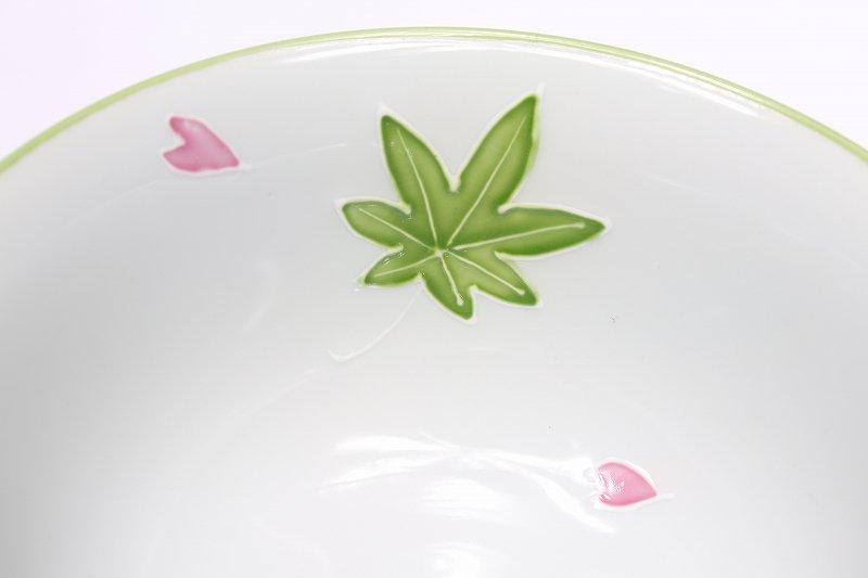 楽々シリーズ 春秋(緑・ピンク) ペア茶碗セット (化粧箱入り) 画像サブ6