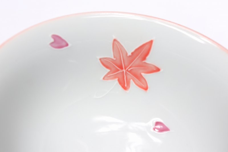 楽々シリーズ 春秋(緑・ピンク) ペア茶碗セット (化粧箱入り) 画像サブ8