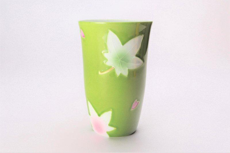 楽々シリーズ 緑春秋 茶碗・フリーカップセット (化粧箱入り) 画像サブ6