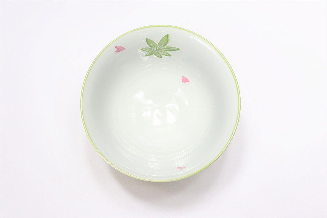楽々シリーズ 緑春秋 茶碗(大) (化粧箱入り) 画像サブ3