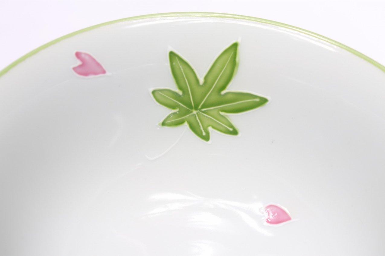 楽々シリーズ 緑春秋 茶碗(大) (化粧箱入り) 画像サブ4