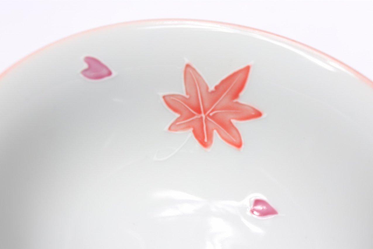 楽々シリーズ ピンク春秋 茶碗(中) (化粧箱入り) 画像サブ4