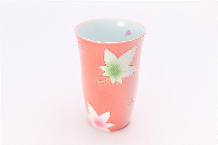 楽々シリーズ ピンク春秋 フリーカップ (化粧箱入り) 画像メイン