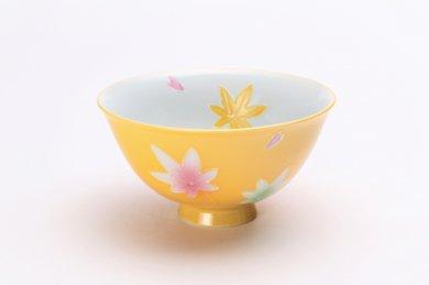 楽々シリーズ 黄春秋 茶碗(中) (化粧箱入り)