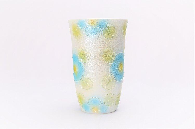 楽々シリーズ ラスター山茶花(青) フリーカップ (化粧箱入り) 画像サブ2