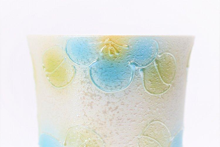 楽々シリーズ ラスター山茶花(青) フリーカップ (化粧箱入り) 画像サブ3