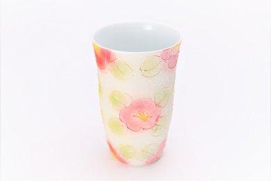 楽々シリーズ ラスター山茶花(赤) フリーカップ (化粧箱入り)