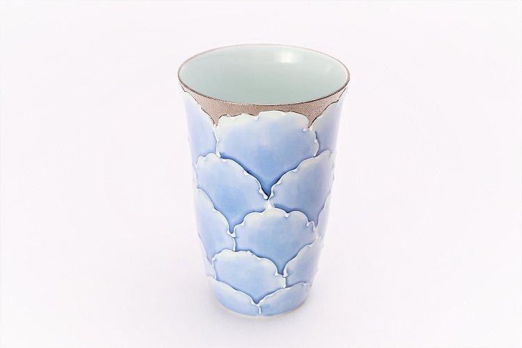 楽々シリーズ 金・プラチナ牡丹 ペアフリーカップ (化粧箱入り) 画像サブ1
