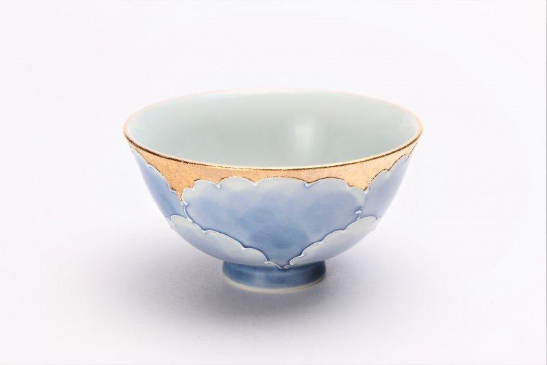 楽々シリーズ 金牡丹 茶碗・フリーカップセット (化粧箱入り) 画像サブ1