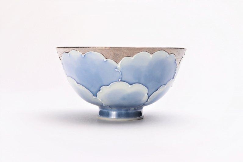 楽々シリーズ プラチナ牡丹 茶碗(中) (化粧箱入り) 画像サブ2