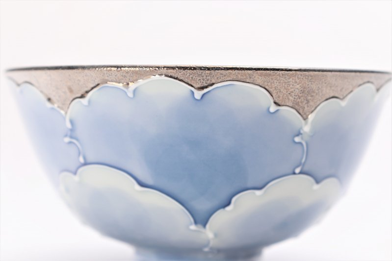楽々シリーズ プラチナ牡丹 茶碗(中) (化粧箱入り) 画像サブ3