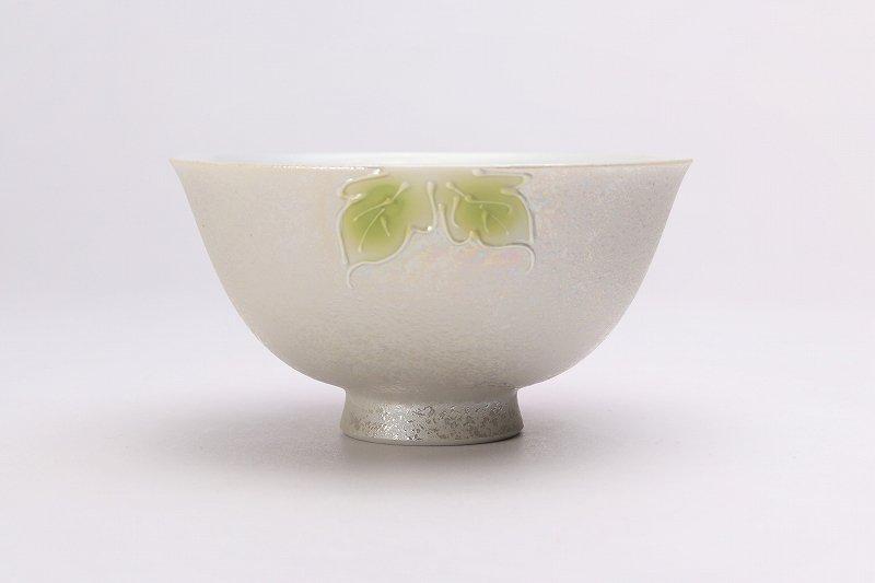 楽々シリーズ 赤牡丹パールラスター 茶碗(中) (化粧箱入り) 画像サブ2