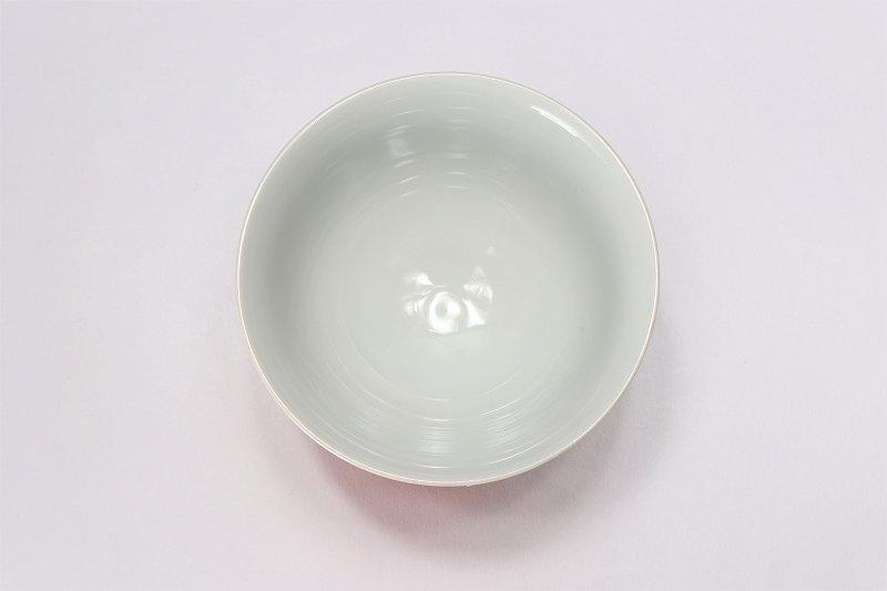 楽々シリーズ 赤牡丹パールラスター 茶碗(中) (化粧箱入り) 画像サブ3