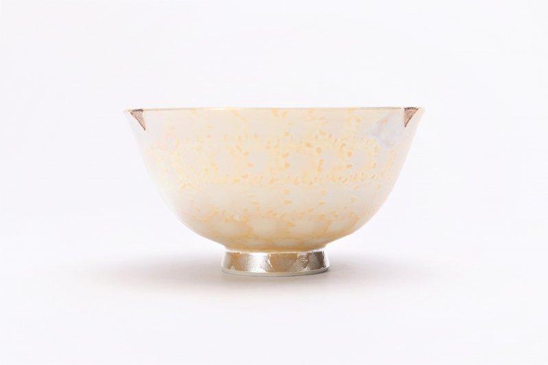 楽々シリーズ ラスターゴールド 茶碗(中) (化粧箱入り) 画像サブ1