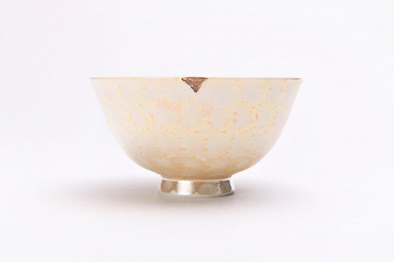 楽々シリーズ ラスターゴールド 茶碗(中) (化粧箱入り) 画像サブ2