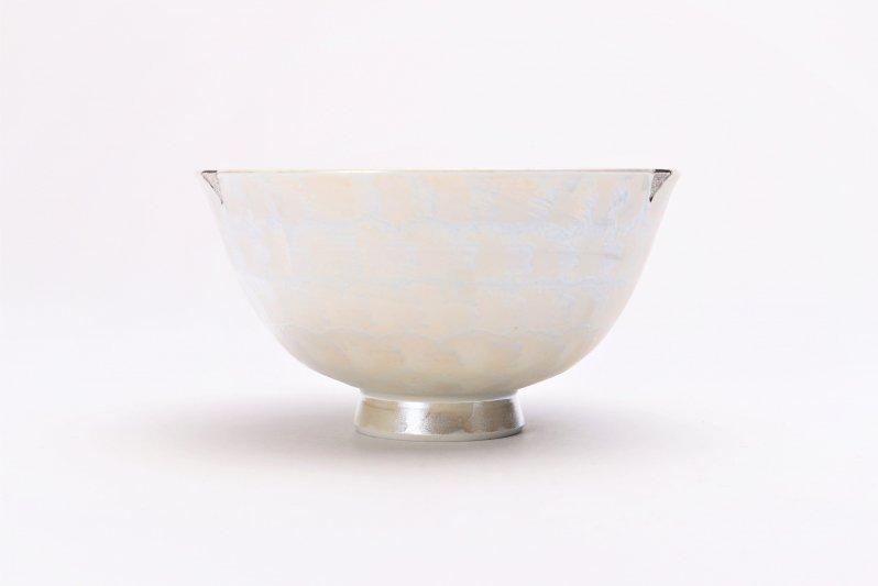 楽々シリーズ ラスターシルバー 茶碗(中) (化粧箱入り) 画像サブ1