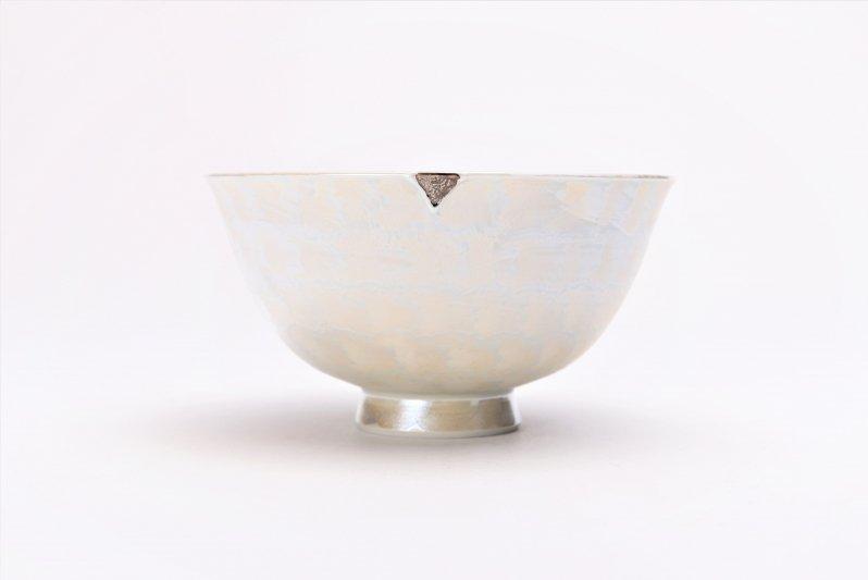 楽々シリーズ ラスターシルバー 茶碗(中) (化粧箱入り) 画像サブ2