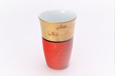 楽々シリーズ 錦朱巻金彩松竹梅 フリーカップ (化粧箱入り)
