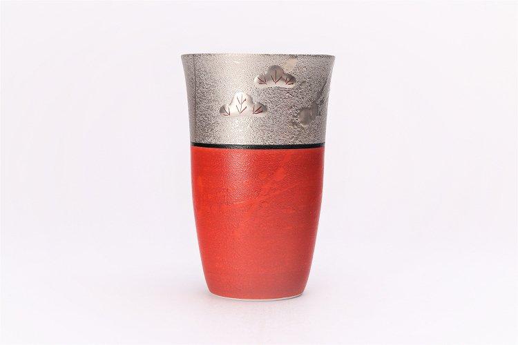 楽々シリーズ 錦朱巻銀彩松竹梅 フリーカップ (化粧箱入り) 画像サブ1