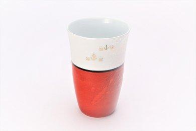 楽々シリーズ 錦朱巻ラスター松竹梅 フリーカップ (化粧箱入り)