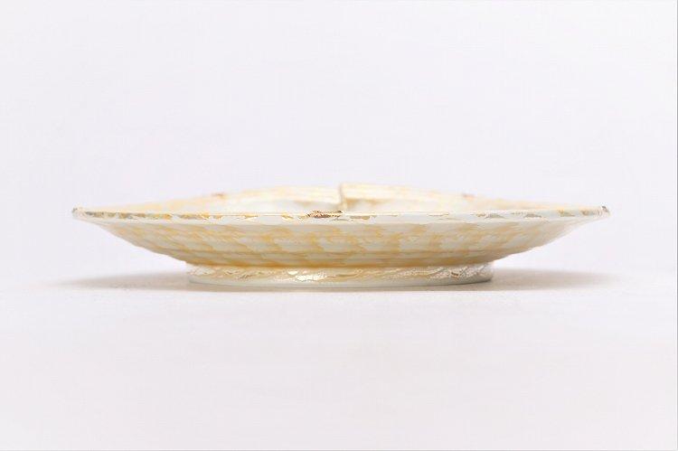 楽々シリーズ ラスターゴールド 結び7寸皿 (化粧箱入り) 画像サブ1