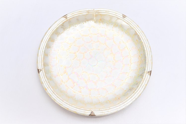 楽々シリーズ ラスターゴールド 結び7寸皿 (化粧箱入り) 画像サブ3