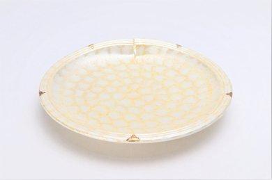 楽々シリーズ ラスターゴールド 結び7寸皿 (化粧箱入り)