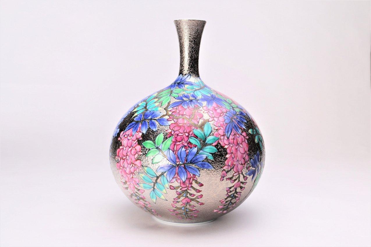 金龍窯 金彩藤ミニ花瓶 画像サブ1