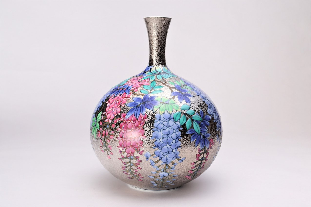 金龍窯 金彩藤ミニ花瓶 画像サブ2
