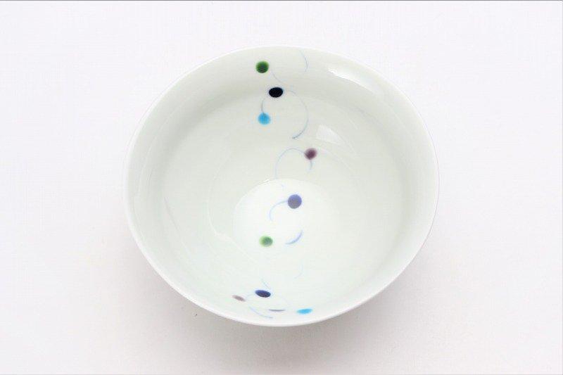 一峰窯 色珠(帯) ひねり飯碗 ペア 画像サブ4