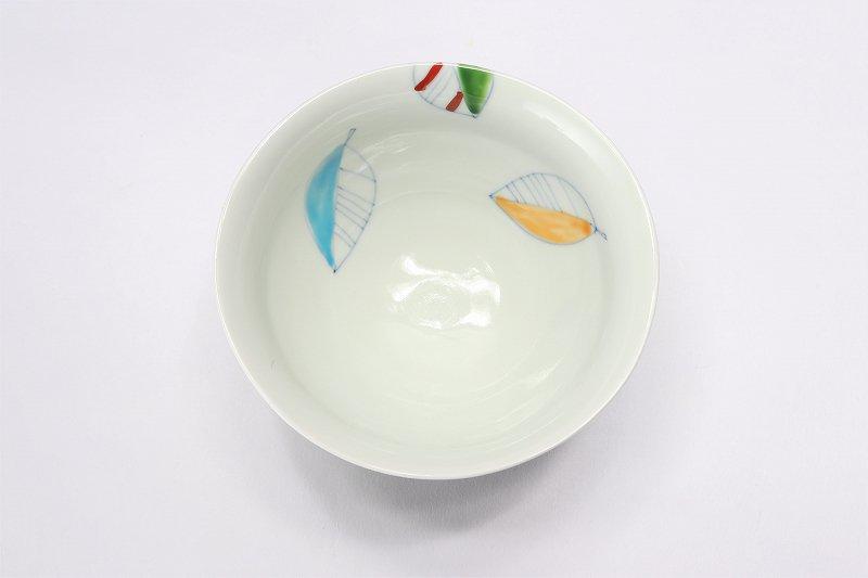一峰窯 カラー木の葉 ひねり飯碗 ペア 画像サブ7