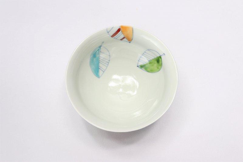 一峰窯 カラー木の葉 ひねり飯碗 ペア 画像サブ8