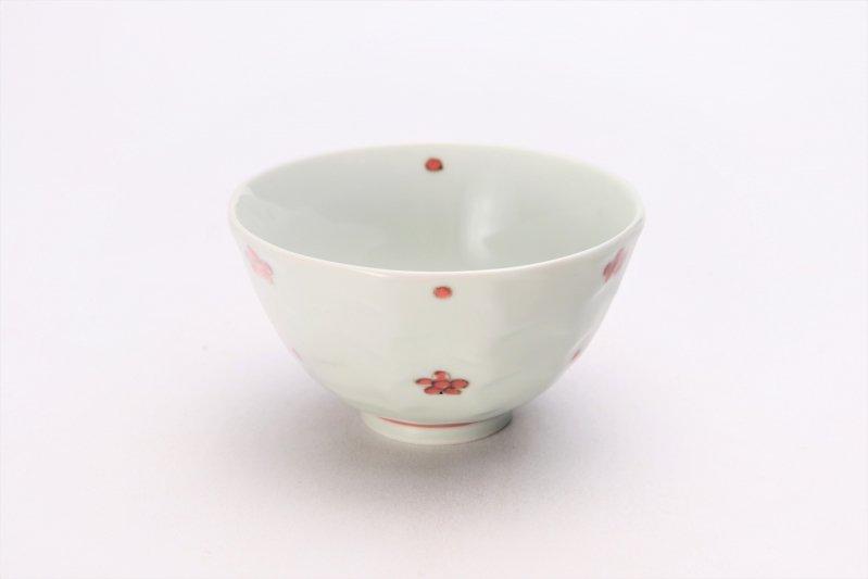 そうた窯 染付赤小花紋面取茶付 画像メイン