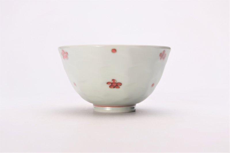 そうた窯 染付赤小花紋面取茶付 画像サブ1