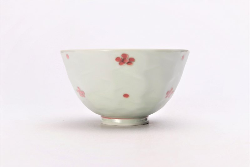 そうた窯 染付赤小花紋面取茶付 画像サブ2