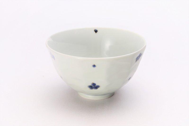 そうた窯 染付小花紋面取茶付 ペア 画像サブ1