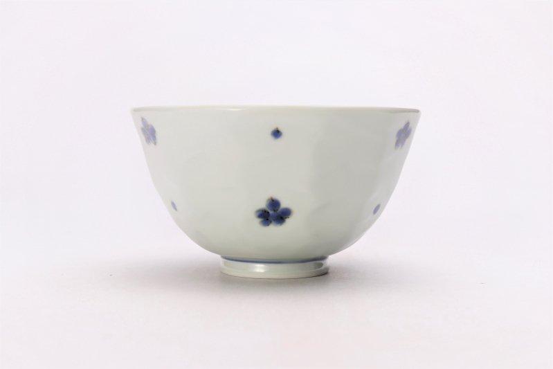 そうた窯 染付小花紋面取茶付 ペア 画像サブ2